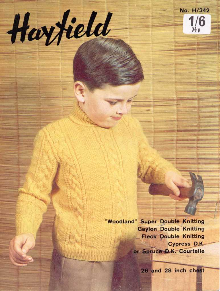 Childs DK Polo Neck free pattern