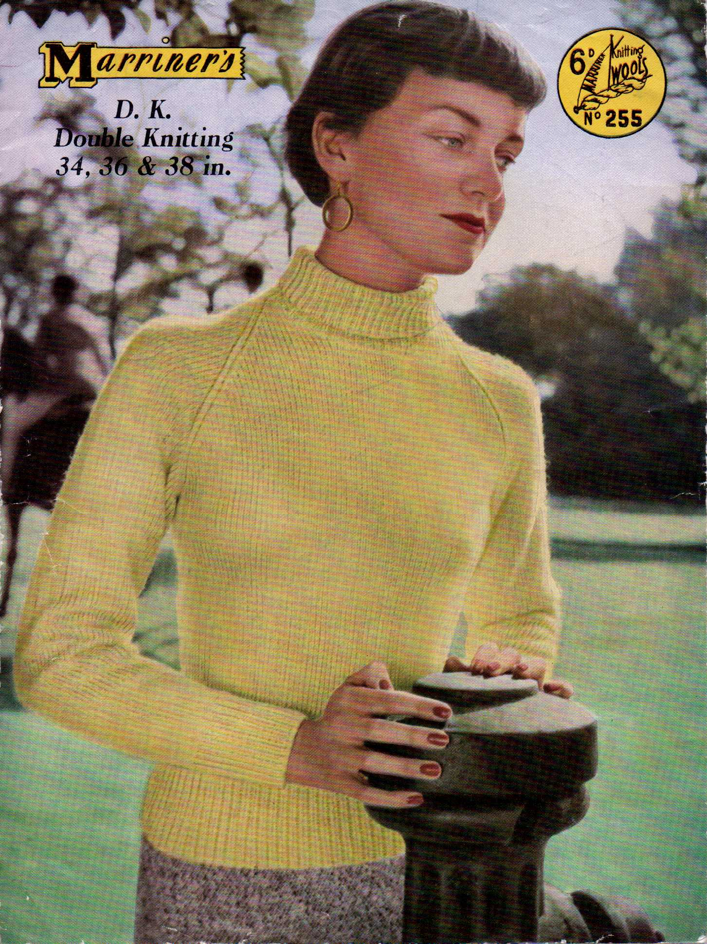 Free Vintage Knitting Pattern: 50s Roll Neck – The Sunny Stitcher