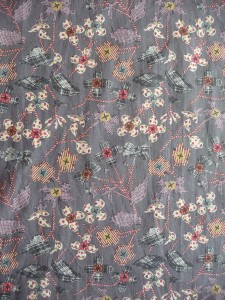 Liberty print with button flowers