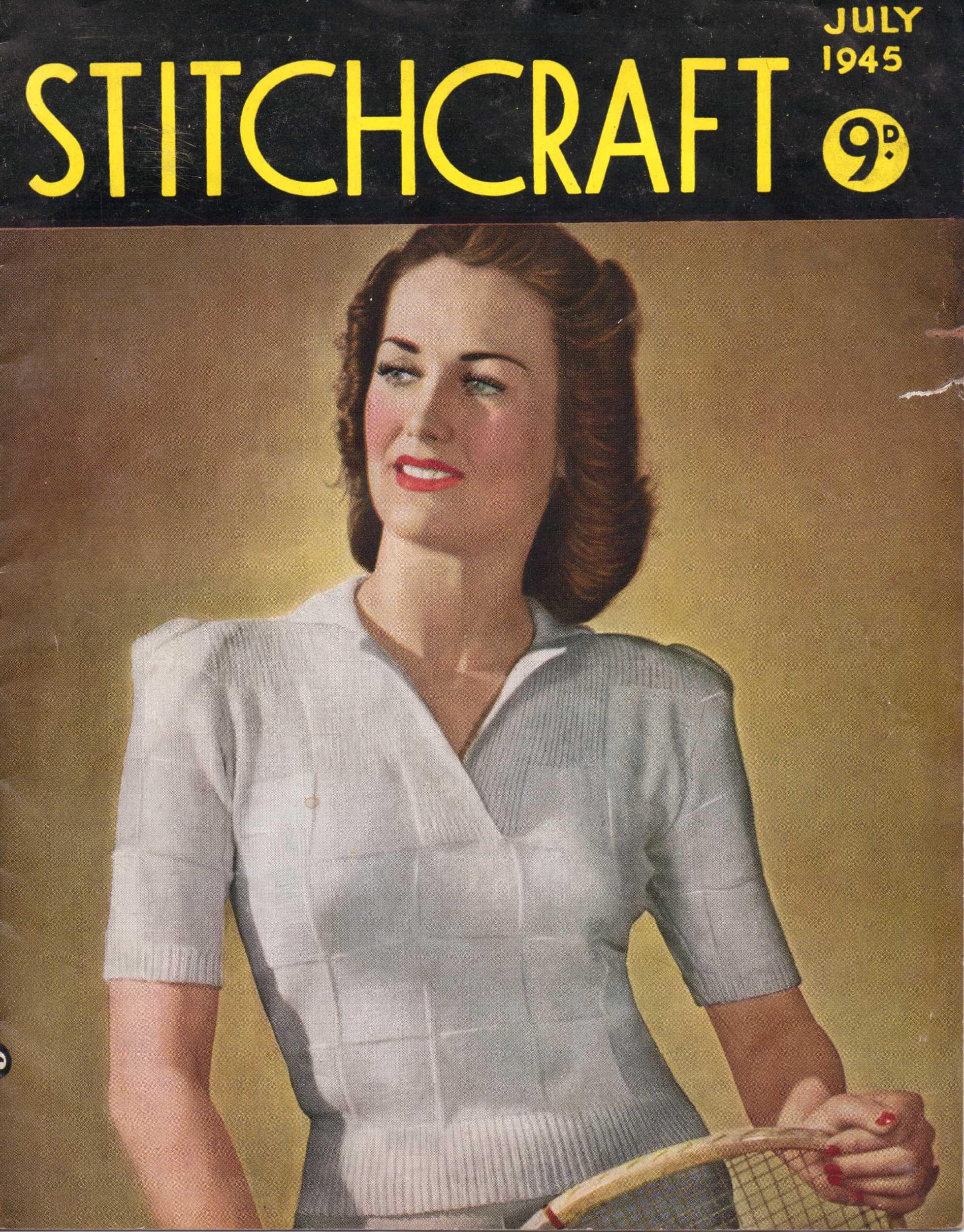 Free Vintage Magazine: Stitchcraft July 1945