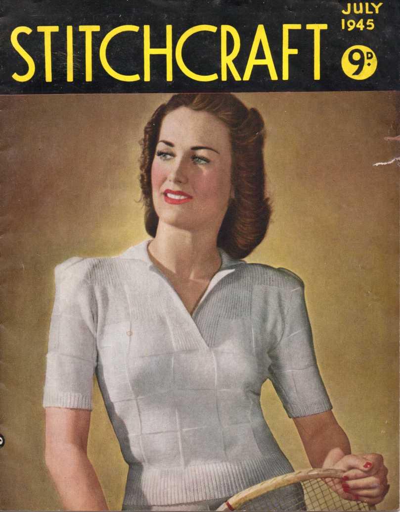Free Vintage Magazine: Stitchcraft July 1945 – The Sunny Stitcher