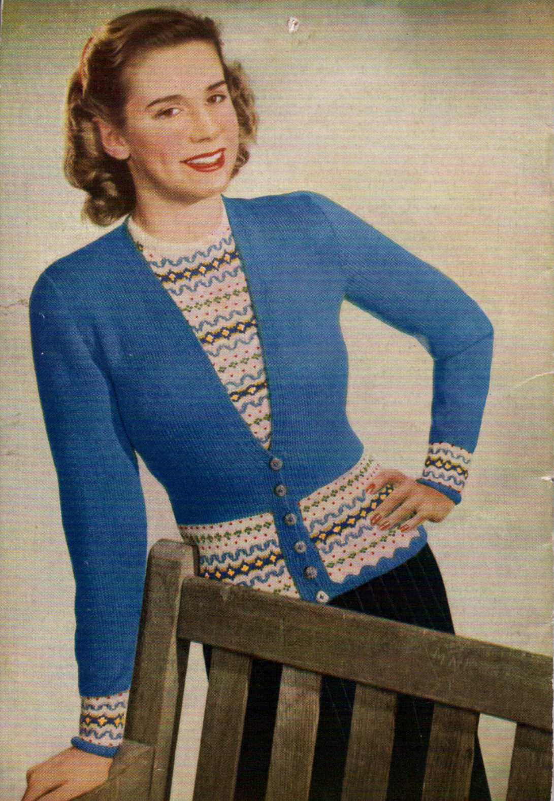 Free Vintage Knitting Pattern Twin Set From The