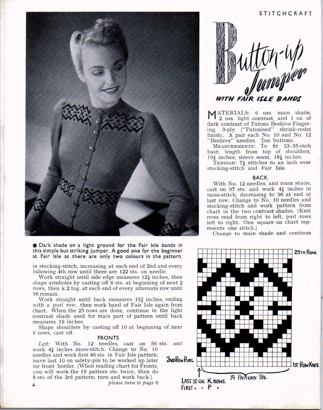 Yours Magazine Knitting Patterns : Free Vintage Knitting Magazine   Stitchcraft February 1947   The Sunny Stitcher