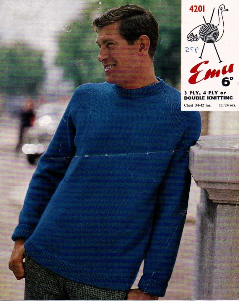 Free Vintage Knitting Pattern Mens Sweater The Sunny Stitcher