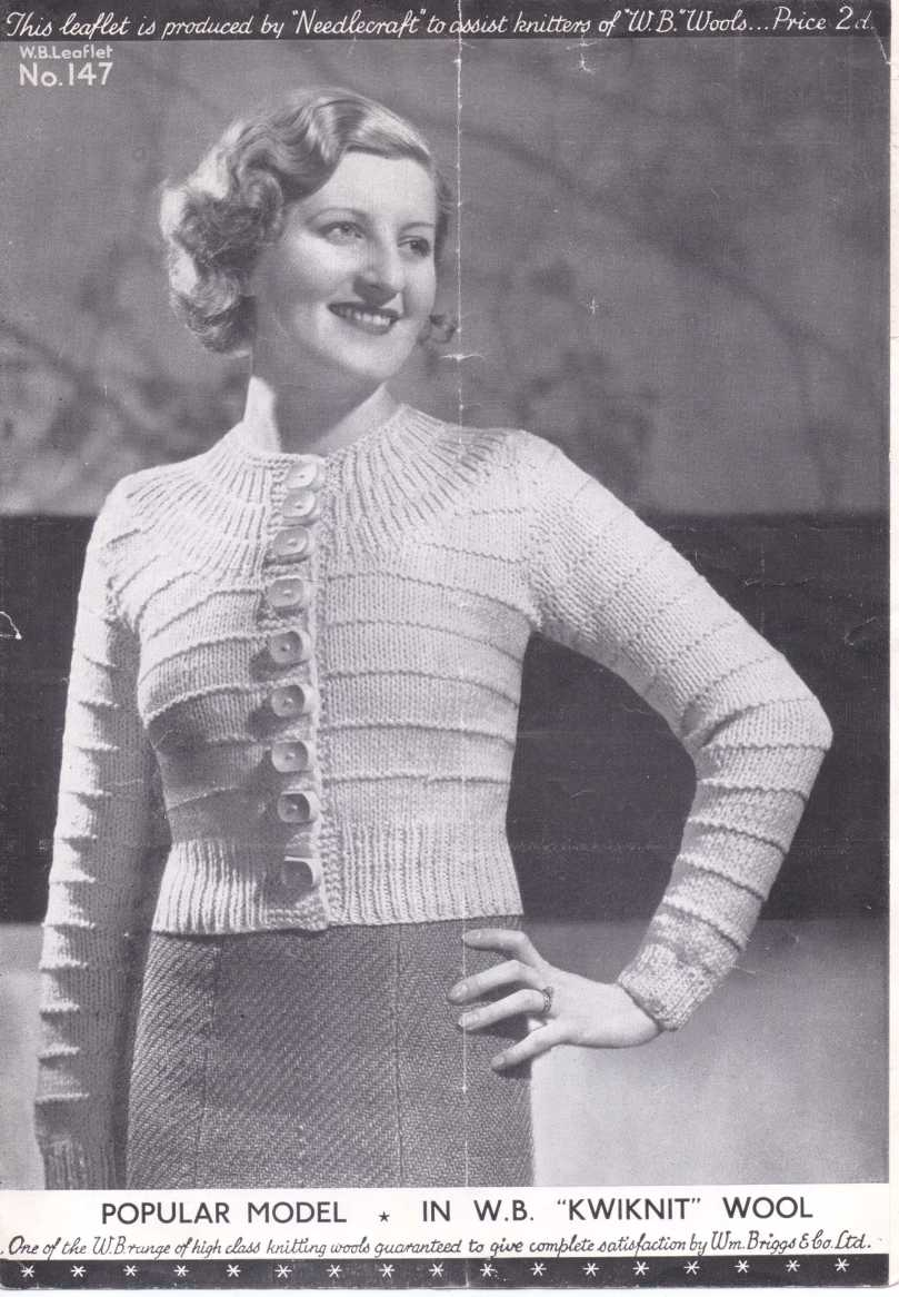 30s ladies yoke cardigan