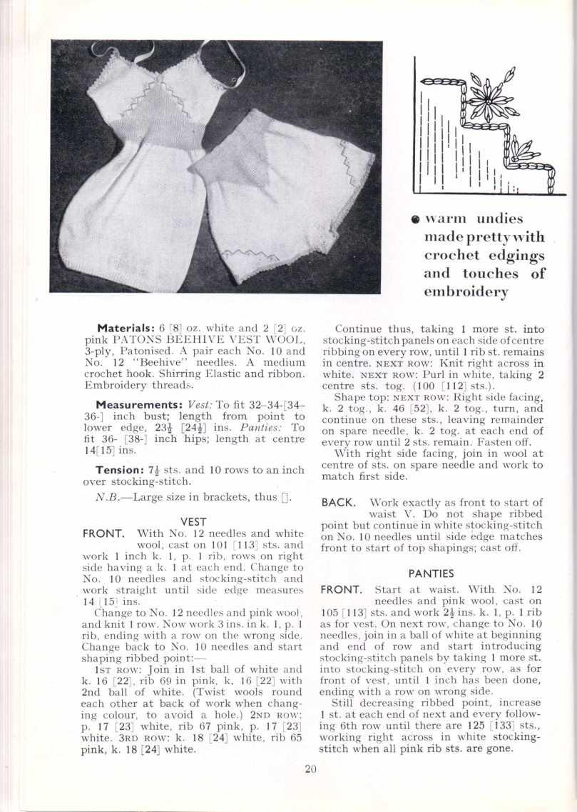ForTheJuniorMiss Stitchcraft 1940s magazine scan 40's p 20