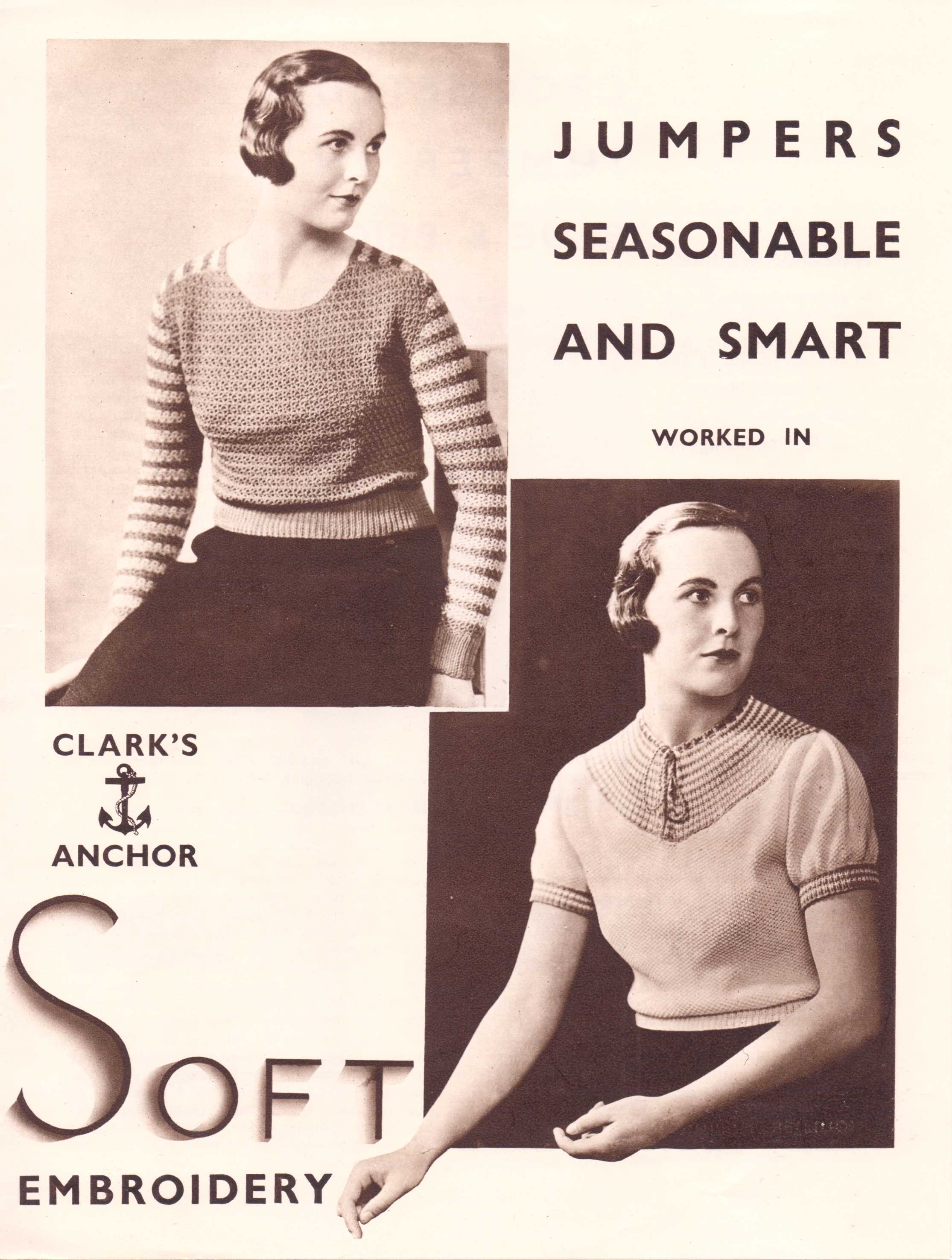 Free Vintage Knitting Pattern – Two Seasonable and Smart Jumpers ...