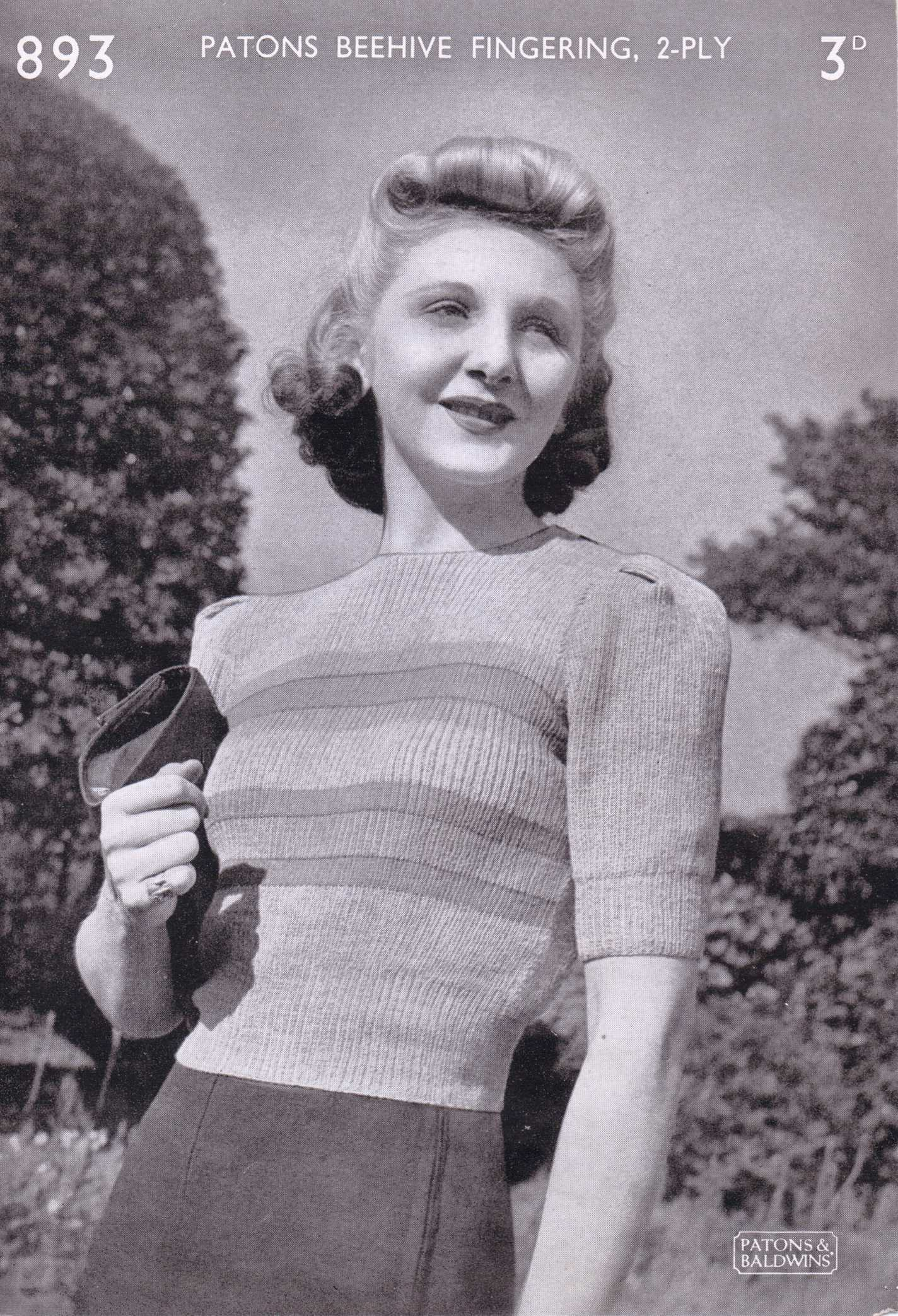 Old Knitting Pictures : Free vintage knitting pattern a little s sweater