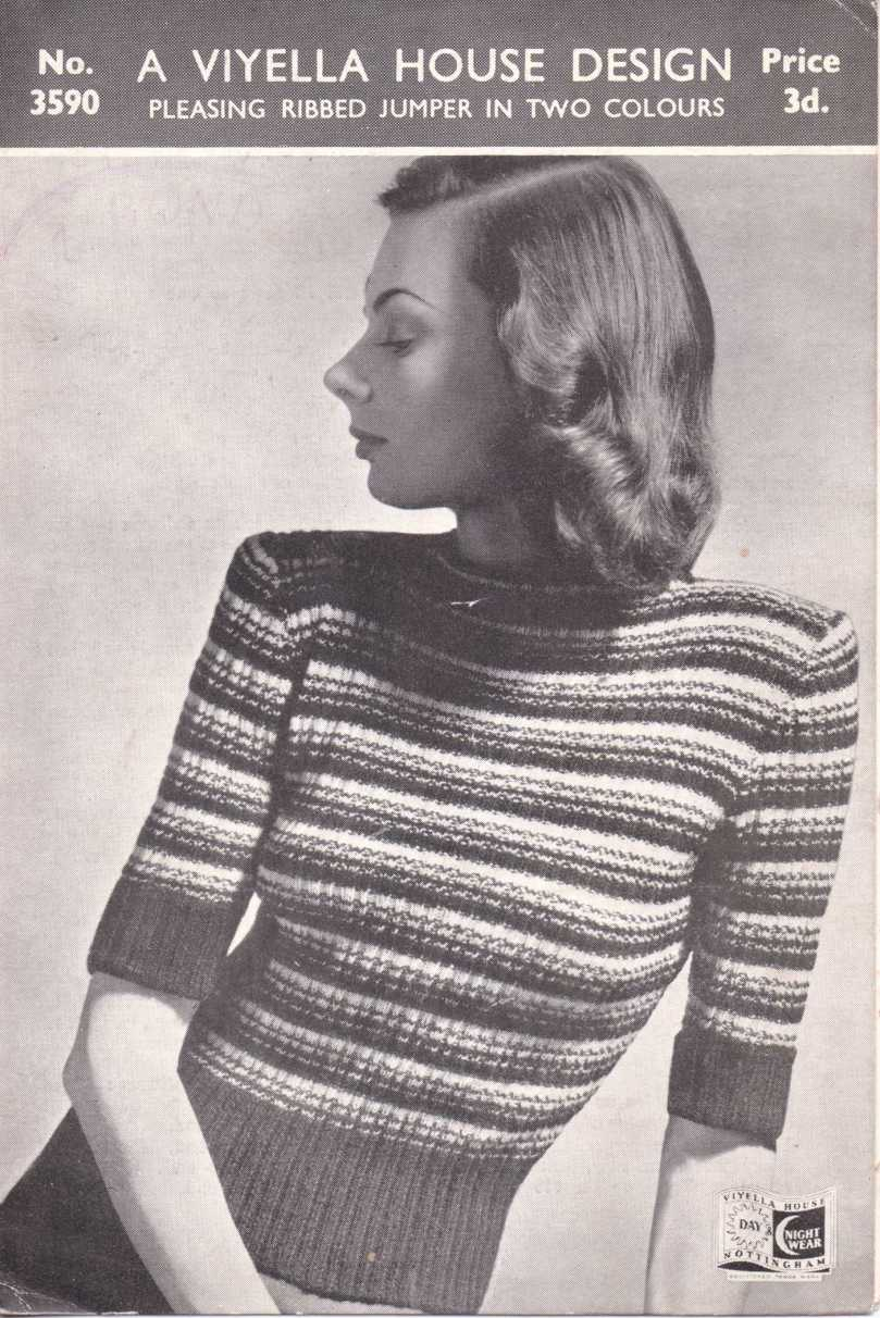 ribbed two colour jumper
