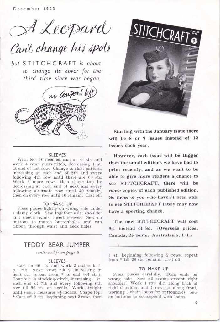 Free Vintage Knitting Pattern