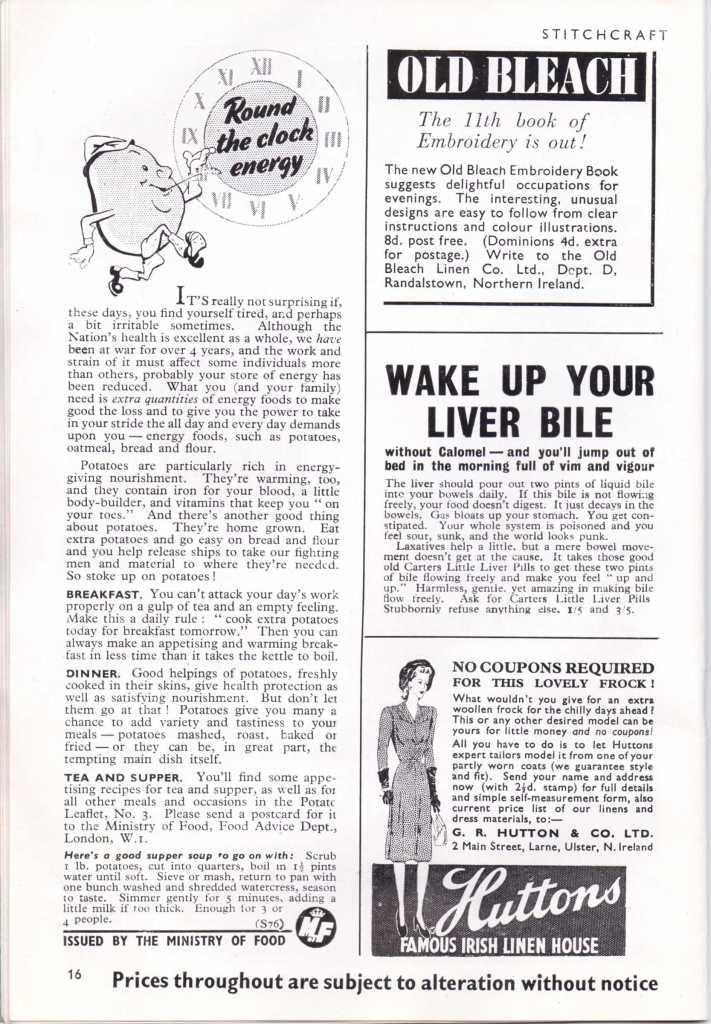 Stitchcraft Dec 1943 Ministry of Food