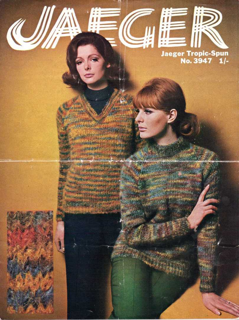 Jaeger 60s beatnik sweater free knitting pattern