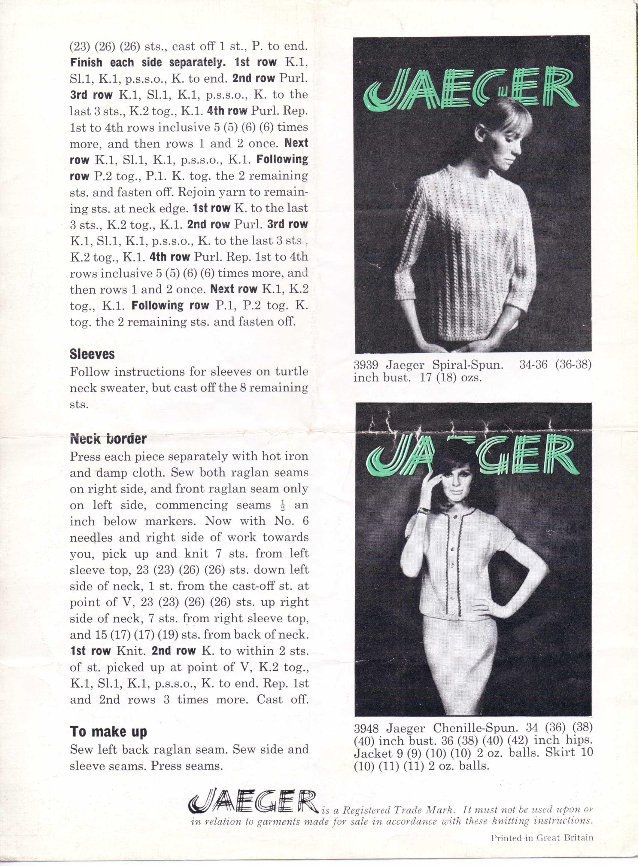 Free Vintage Knitting Pattern – Beatnik Chick Turtle Neck from ...