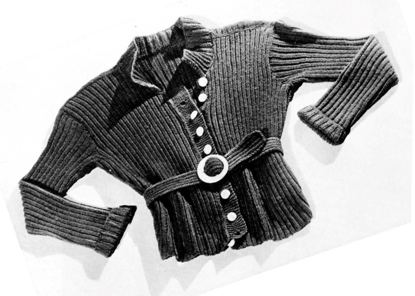 Thirties Free Vintage Knitting Pattern