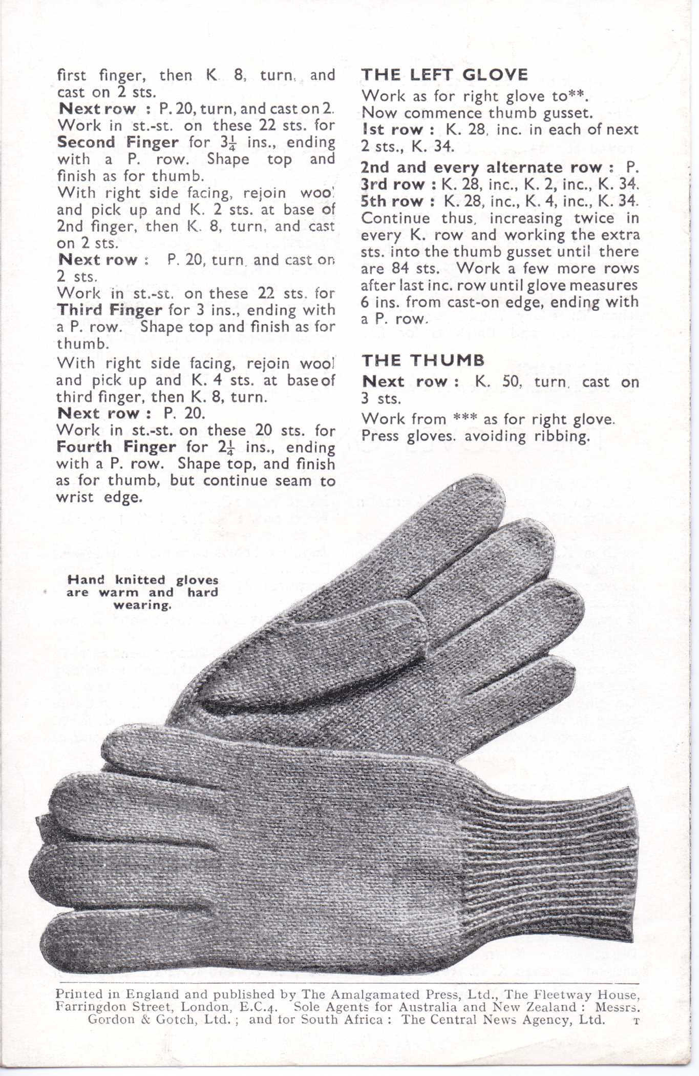 Free vintage knitting pattern bestway 1777 1940s mens gloves bestway 1777 mens gloves free knitting pattern 3 bankloansurffo Choice Image