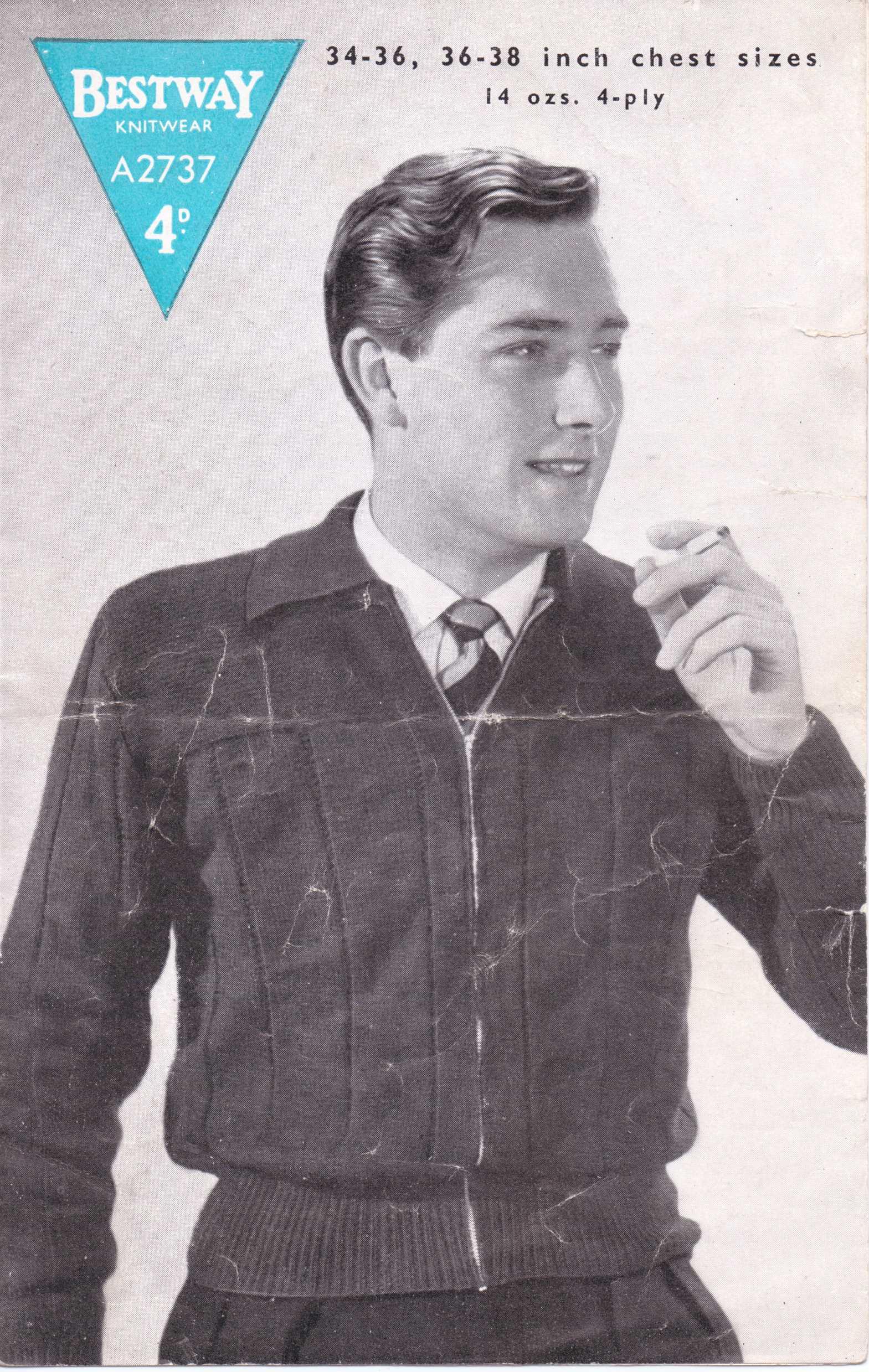Free Vintage Knitting Pattern: Men\'s Lumber Jacket from 1940s – The ...
