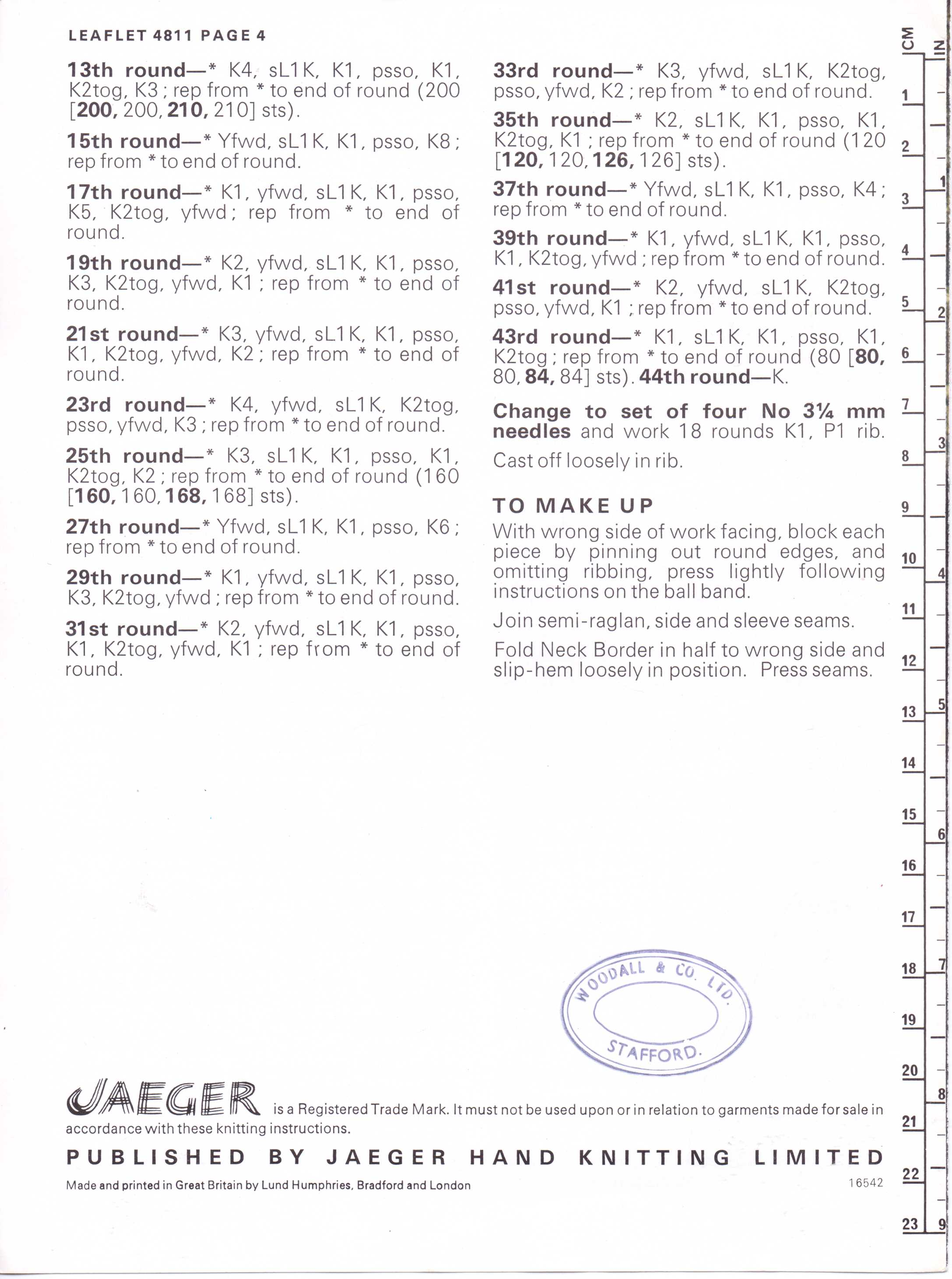 Free Vintage Knitting Pattern – Vintage-esque – 1970s does 1930s ...