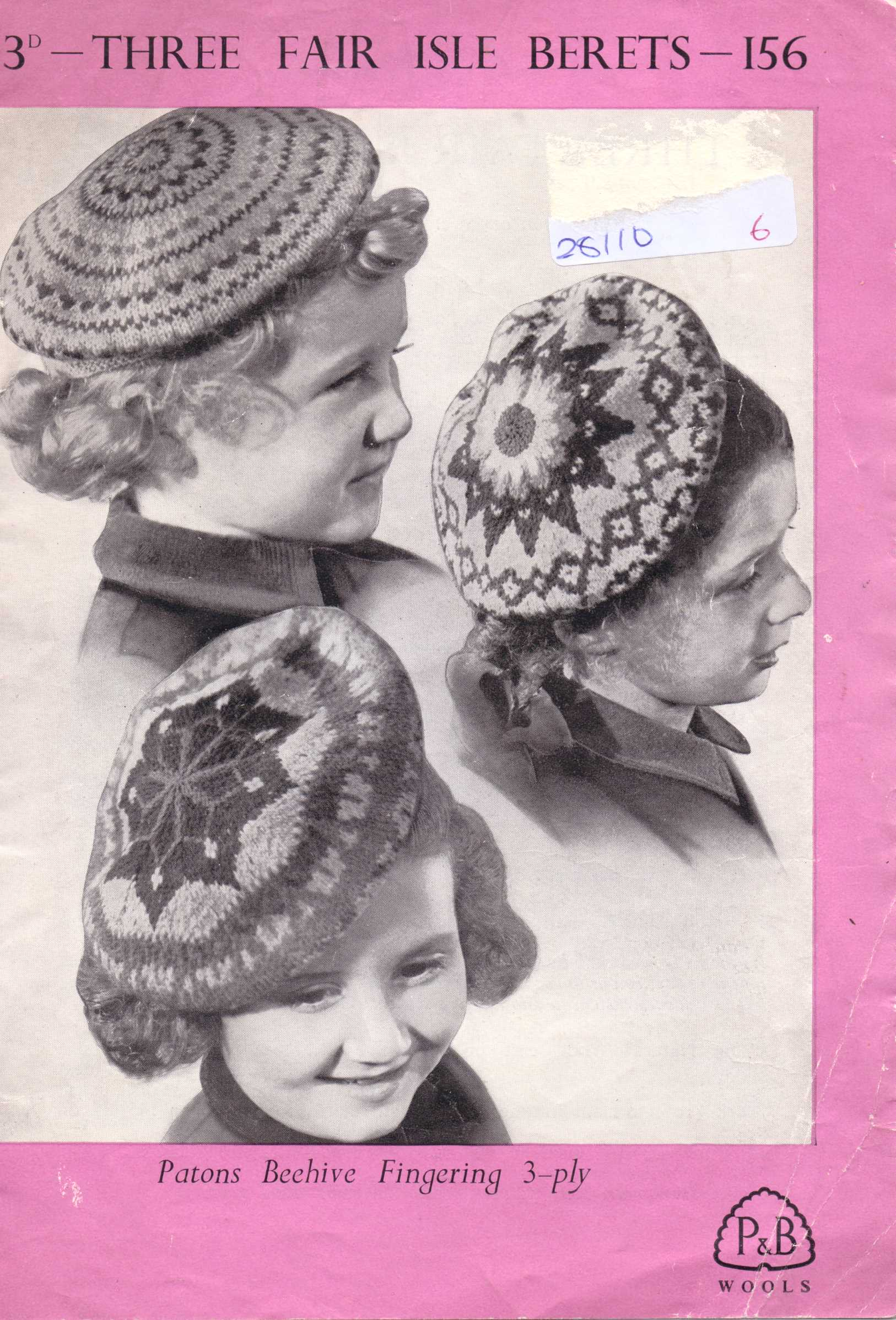 Free Vintage Knitting Pattern: Children\'s fair isle berets – The ...