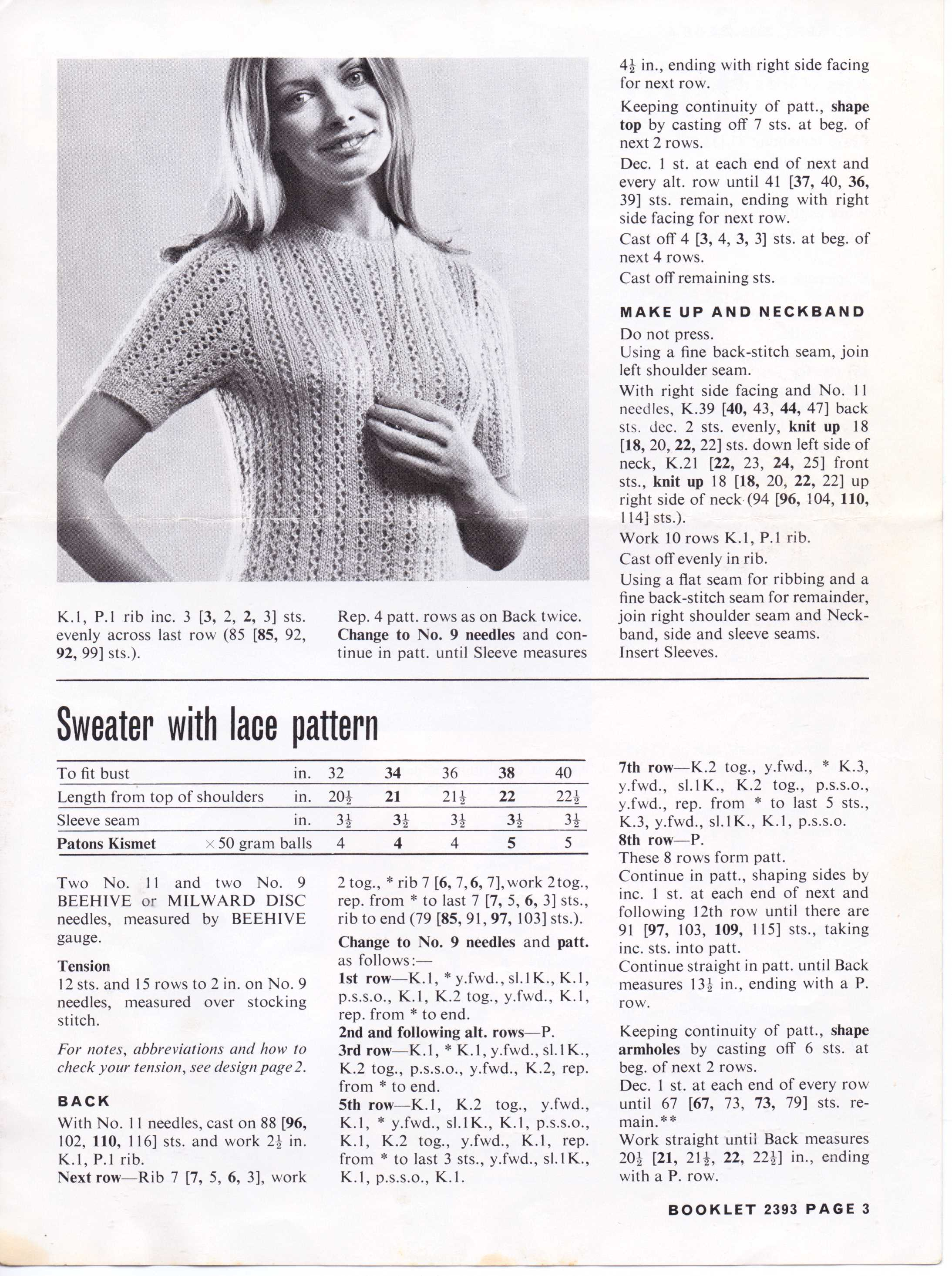 Free Vintage Knitting Pattern: Lacey tops With Man Appeal – The ...