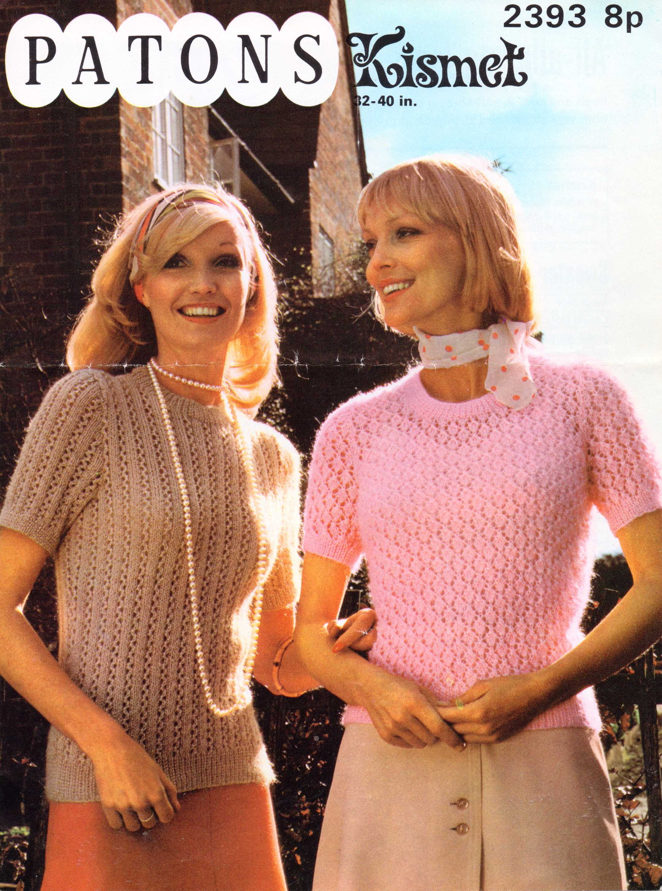 Knitting Pattern Jumper Ladies : Free Vintage Knitting Pattern: Lacey tops With Man Appeal   The Sunny Stitcher
