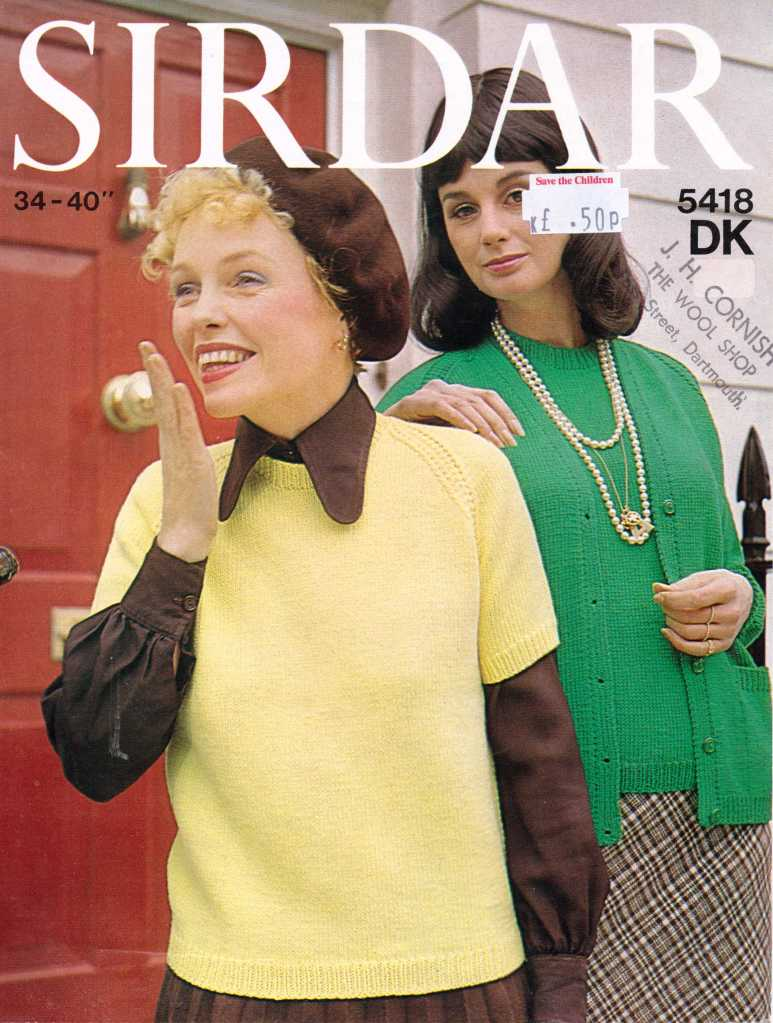 Sidar 5418 ladies jumper free knitting pattern