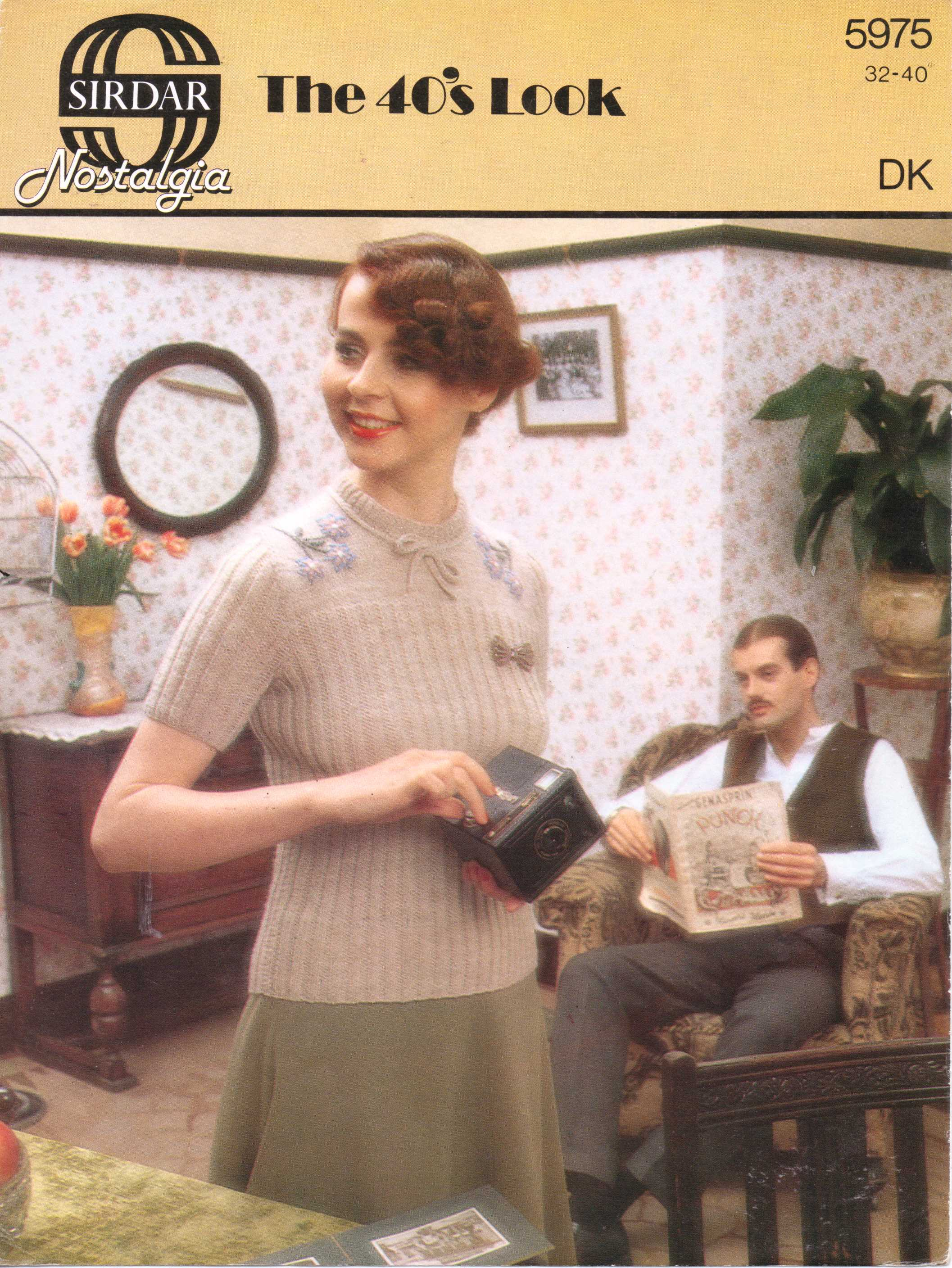 Vintage Knitting Pattern: 1980s does 1940s (Sirdar 5975) – The Sunny ...