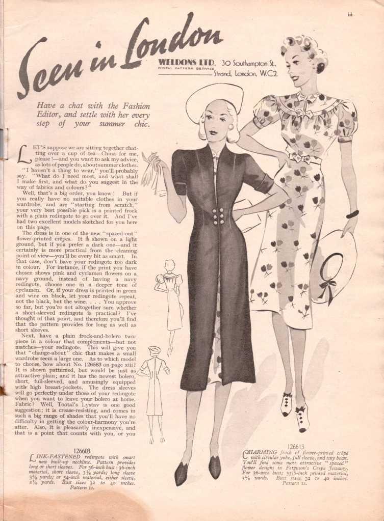 Weldon's Ladies Journal 1938 free knitting pattern4
