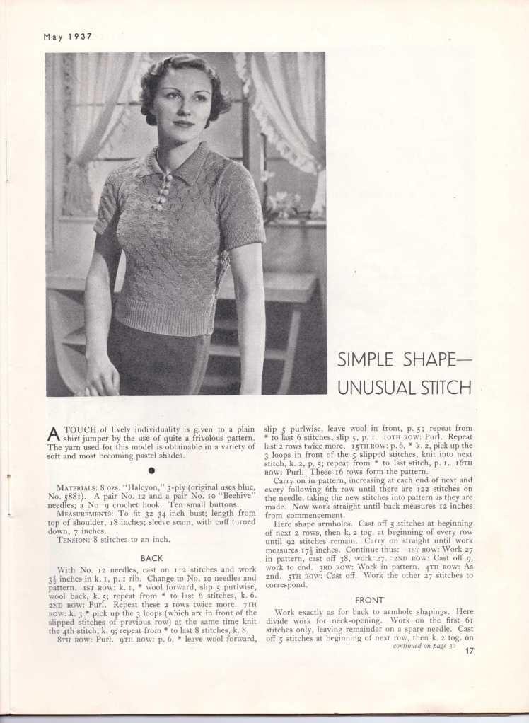 Stitchcraft May 193718