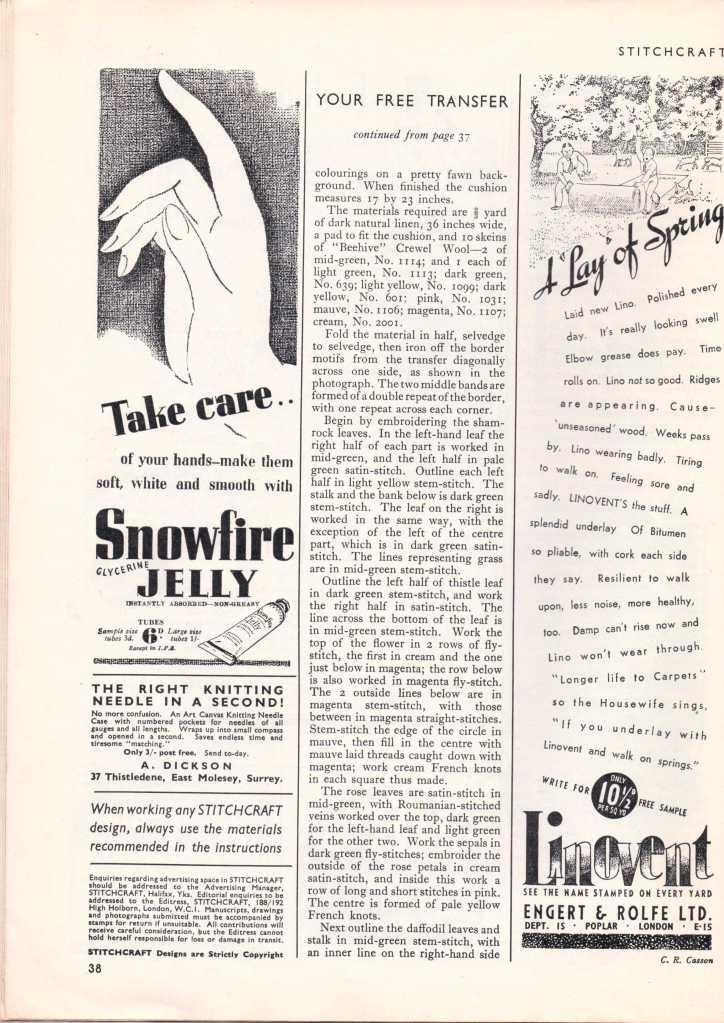 Stitchcraft May 193737