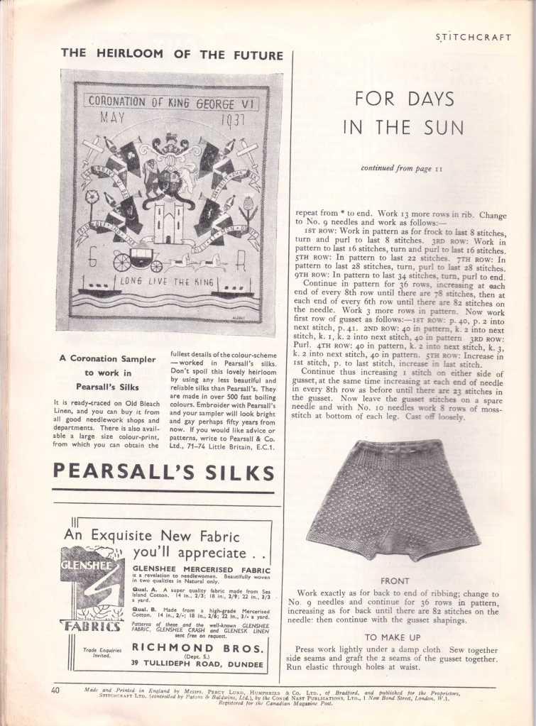 Stitchcraft May 193740