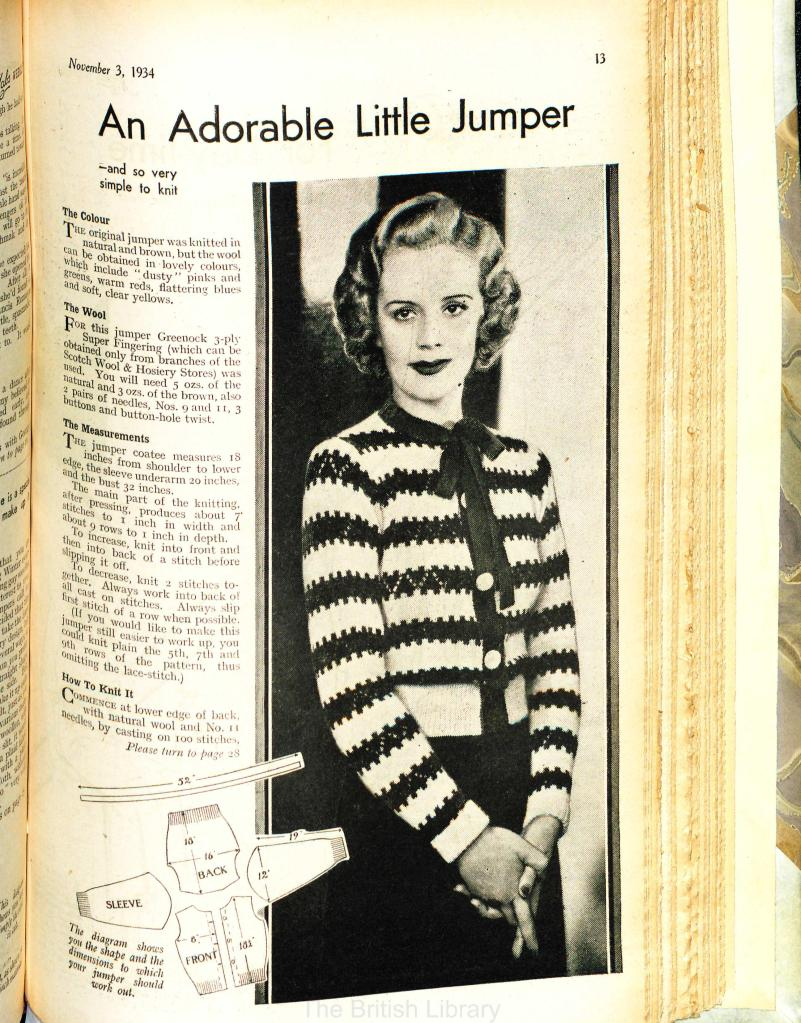 free vintage knitting pattern