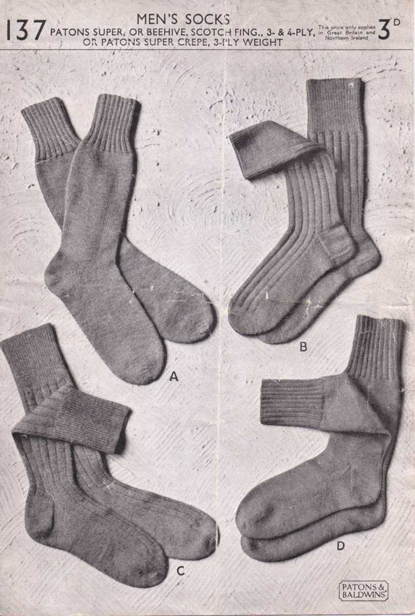 Knitting Pattern Reading Socks : Patterns from 1950s   The Sunny Stitcher