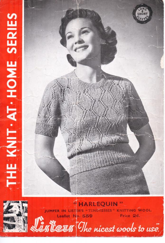 Free Vintage Knitting Pattern From 1930s Harlequin The Sunny