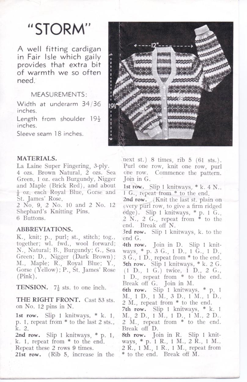 Free WW2 Knitting Pattern