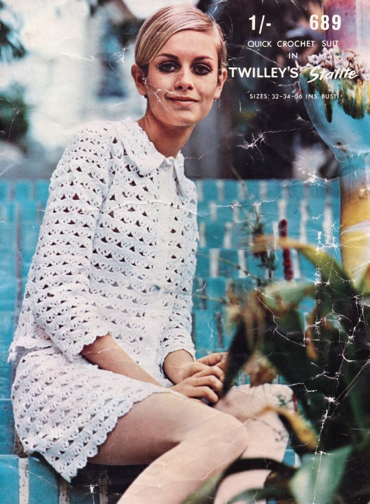 Free Vintage Knitting Pattern Twiggy Quick Crochet Suit The Sunny