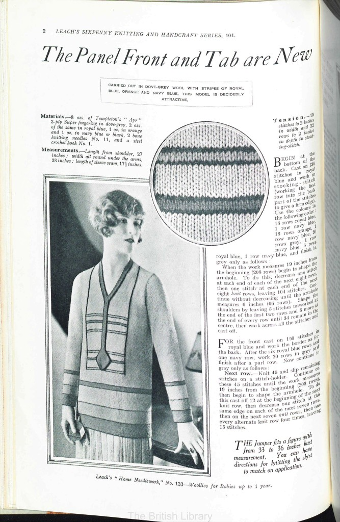 free vintage knitting pattern from Sunny Stitcher page2